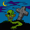 Zombie on Halloween Coloring