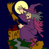 the-witch-and-castle-coloring